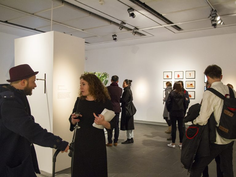 Photograph of people at NOW launch at CFCCA