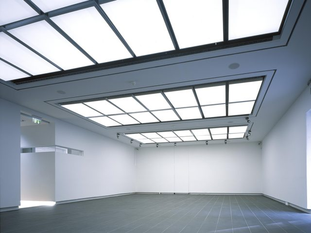 Photograph of Gallery 1, sitting empty before opening in 2003