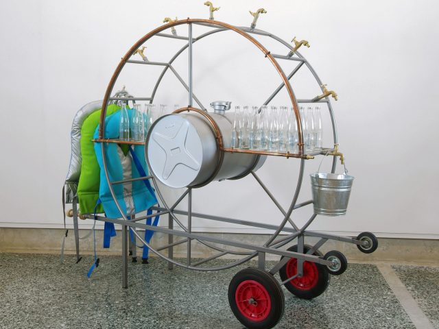 Lucy+Jorge Orta, Orta Water - Portable Water Fountain (2005) image courtesy of the artist