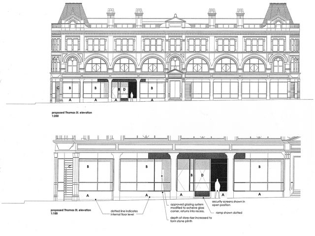 Blue prints for external architectural designs of CFCCA building